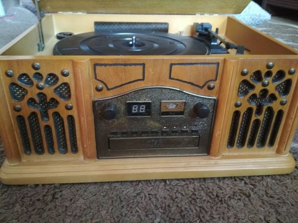 Centrum muzyczne Prolectrix Retro - radio, cd, magnetofon Gramofon