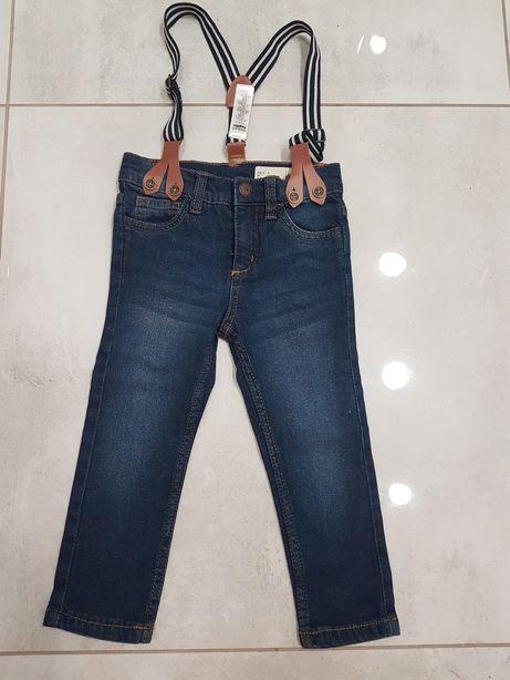 Spodnie jeansy  92