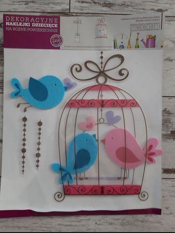 Naklejki na ścianę,meble, ptaszki, filcowe, 3D