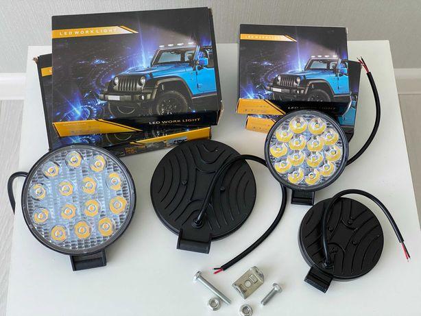 Светодиодные LED/ЛЕД фары/фонари трактор комбайн погрузчик прицеп 42W