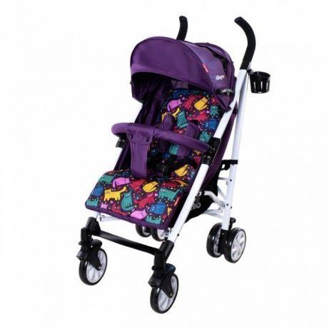 Коляска прогулочная, трость фиолетовая CARRELLO ALLEGRO Kitty Purple