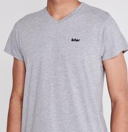 Świetny szary tshirt Lee Cooper V Neck S, oryginalny, nowy z metkami