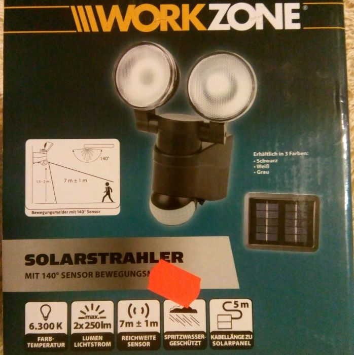 Продам прожектор Work Zone с датчиком движения