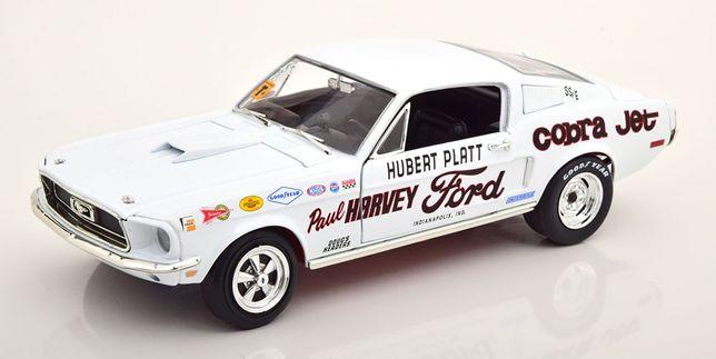 Model 1:18 AutoWorld Ford Mustang S/S Cobra Jet 1968 Hubert Platt