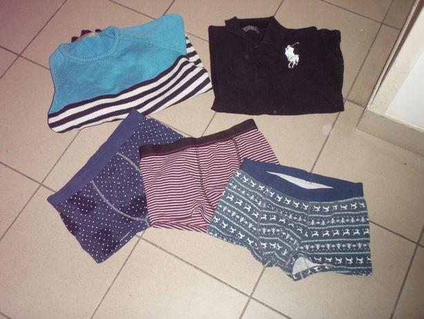 ODDAM Urania męskie S/M sweter, polo, bokserki, firmowe