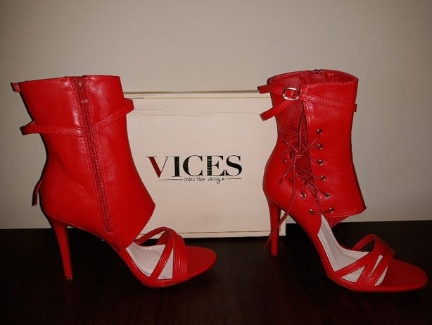 czerwone sandałki Vices 39 wyprzedaż