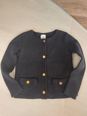 Sweterek czarny 110/116