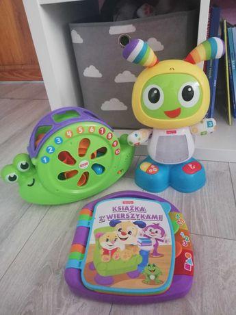 Robot Zabawki bebo książeczka slimak Fisher Prix