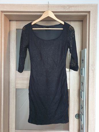 Sukienka koronkowa amisu S czarna
