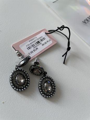 Kolczyki By Dziubeka srebrne kryształki nowe