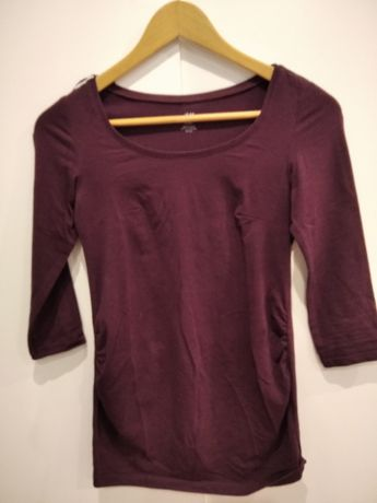 Bordowa bluzka firmy H&M MAMA