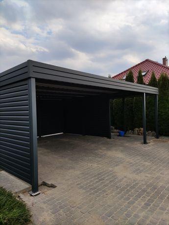 Wiata garażowa, carport, zadaszenie, wiata na dwa auta, żaluzja