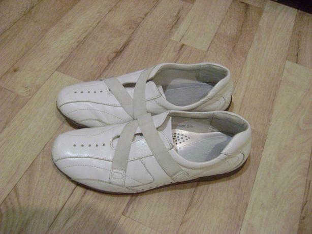 мокасины туфли кроссовки женские кожаные Footglove р-р 38 стель.25 см