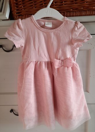 Sukienka H&M pudrowy róż 74