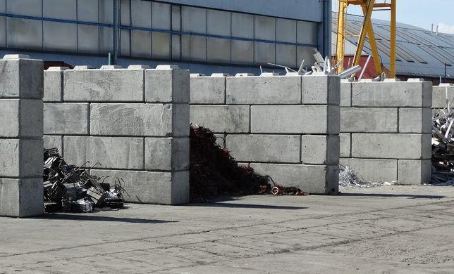 Bloki betonowe, Mury oporowe, Zasieki, Boksy, Hale, Kostki, Bloczki