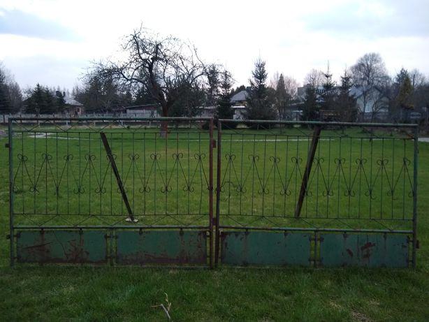 Brama metalowa dwuskrzydłowa ogrodzenie 4 metry