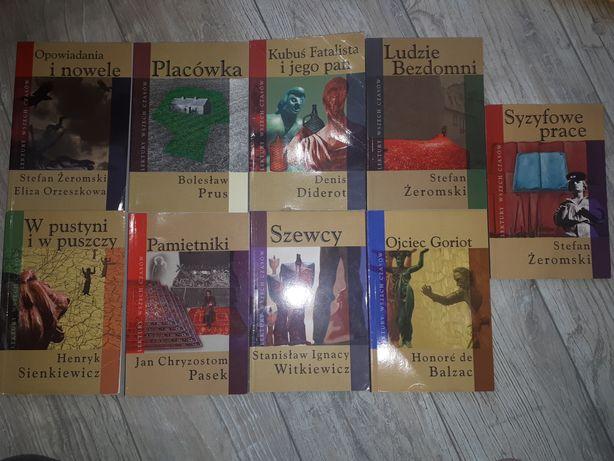 Zestaw książek- lektury szkolne (cena za całość)