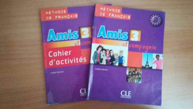 Manual escolar de francês para o 9° ano.Amis 3.