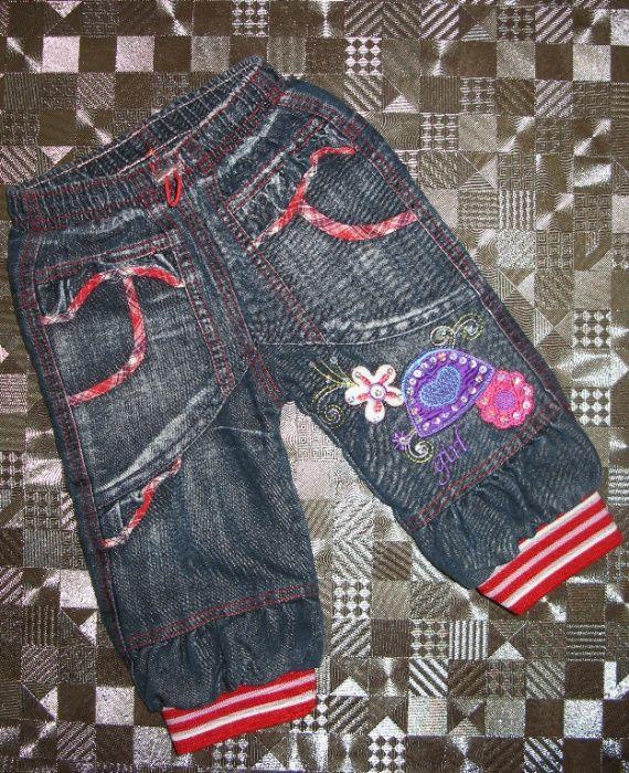 Тёплые джинсы с вышивкой и аппликацией Finger 86р Киев - изображение 1