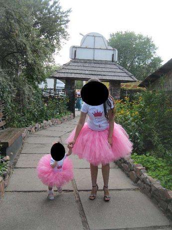 Family look юбки мама дочка