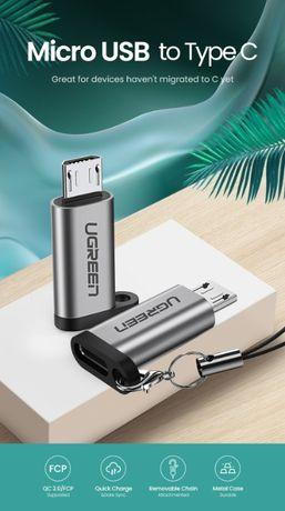 Ugreen адаптер Type C на Micro USB переходник хаб югрин