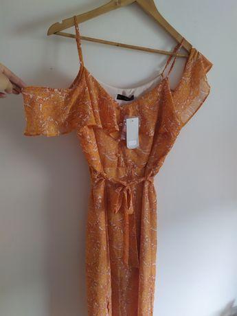 Nowa sukienka hiszpanka L f&f pomarańcz
