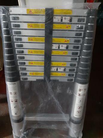 Troco escada telescópica por escada de dois lances também  em alumínio