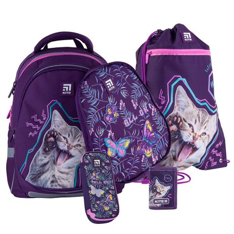 Набір set_k21-700m(2p)-3 рюкзак + пенал + сумка для взуття Kite + гам.