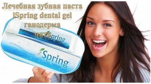 Зубная паста лечебно-профилактическая с рейши iSpring гель Dental Gel