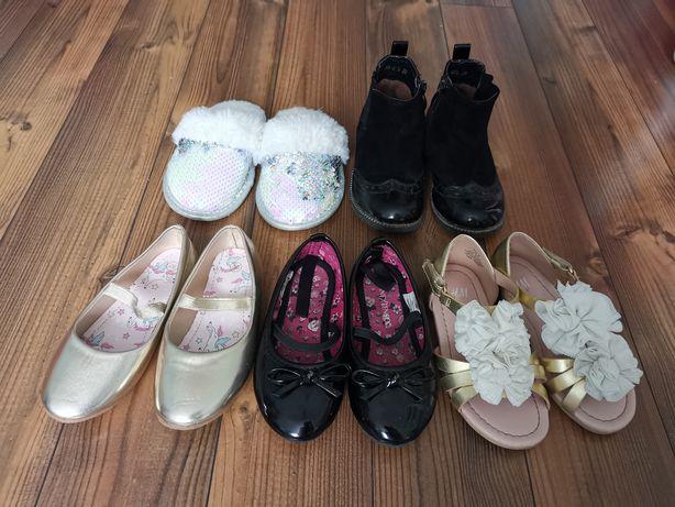 Zestaw butow dziewczęce stan idealny nowe rozmiar 26 baleriny sandały