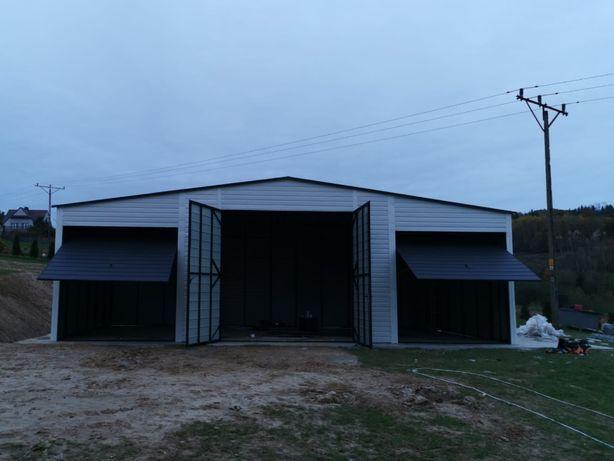 Hala wiata garaż konstrukcja stalowa 11x 6