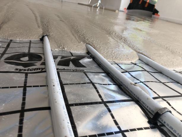 Wylewki, posadzki ANHYDRYTOWE na ogrzewanie podłogowe Knauf
