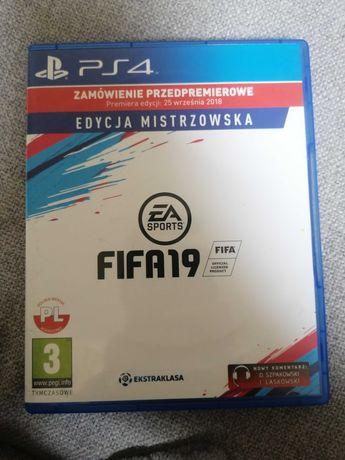 Pudełko premierowe Fifa 19 Edycja Mistrzowska PS4