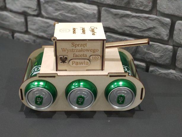 Wyjątkowy prezent czołg na piwo, personalizowany grawer urodziny,