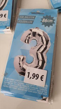 Balon foliowy 86cm cyfra liczba 3