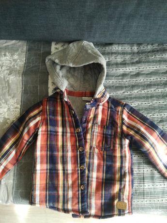 Koszula z kapturem na jesień-zimę