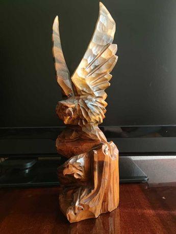 Орел из дерева ручная работа