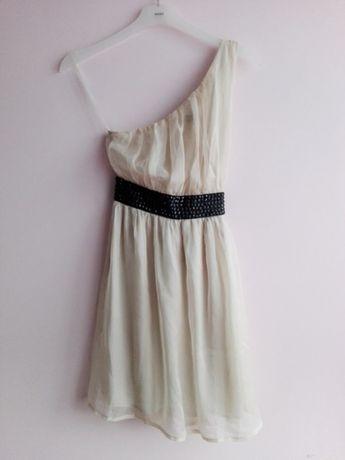 MISO, szyfonowa sukienka, kamienie, elegancka M