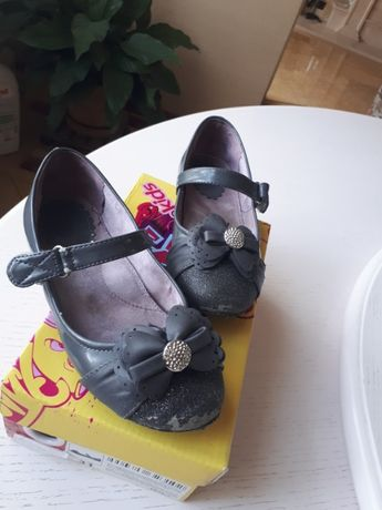 Серые туфли для школы, 31 размер, 19,5 см, супинатор, каблук