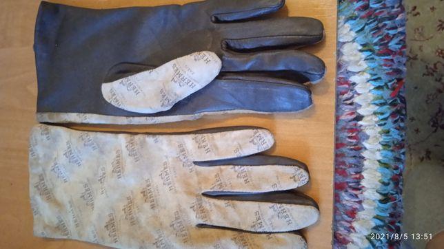 Винтажные женские кожаные вечерние перчатки