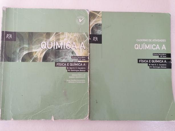 """""""Quimica A"""" Manual e CA de Fisica e Quimica A, 10 Ano"""