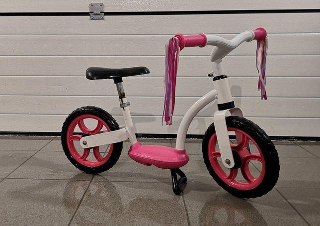 Rower rowerek biegowy dla dziewczynki
