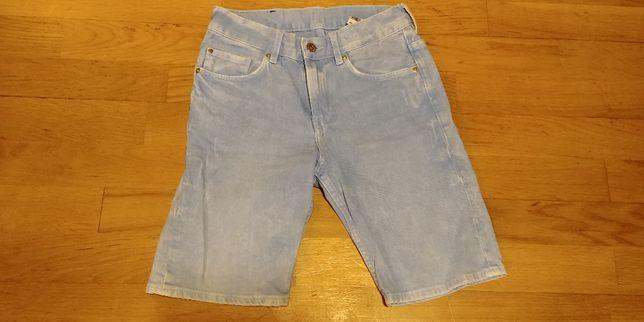 spodenki jeansowe do kolan H&M, rozmiar 146 cm