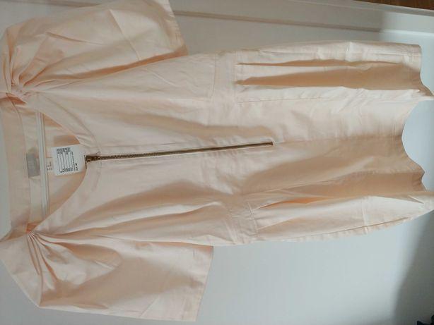 Brzoskwiniowa sukienka H&M, nowa