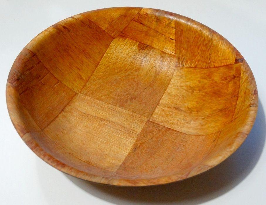 Miska drewniana, koszyk, półmisek naczynie z drewna. Tyszowce - image 1