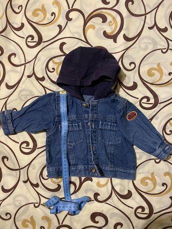 Модная куртка джинсовка для новорожденного