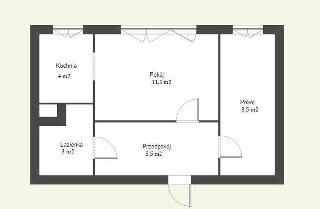 2 pokojowe mieszkanie DO REMONTU, 32,3 m2 ul. Pana Tadeusza, Olsztyn
