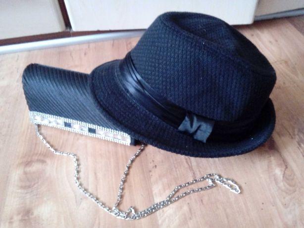 Czarny kapelusz damski rozmiar 57 , super cena !