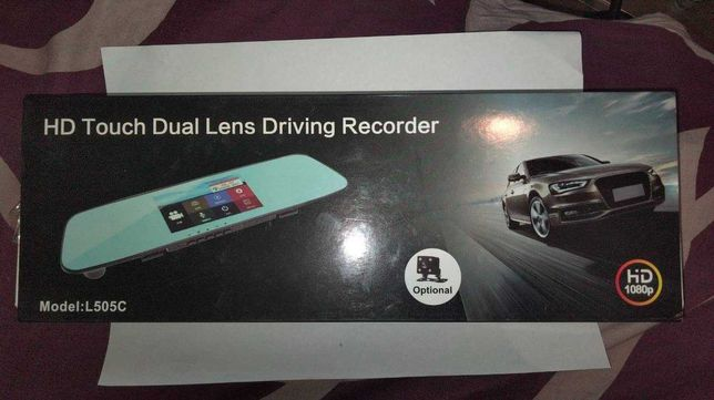 Зеркало заднего вида с регестратором HD Touch Dual Driving Recorder