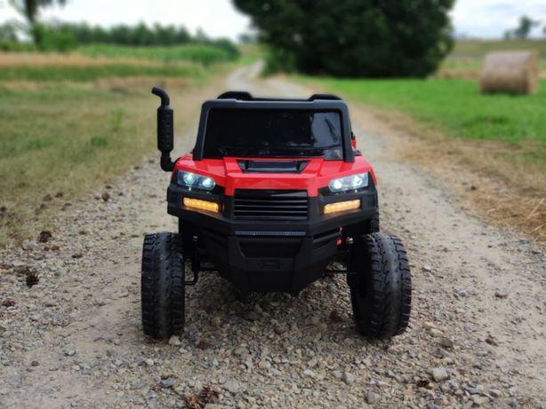 Dwuosobowe auto FARMER Wyrotka na akumulator dla dzieci JEEP 6kół
